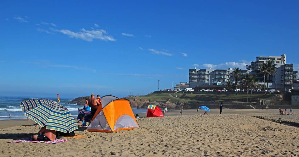 Margate Main Beach with Seagull Flats in background